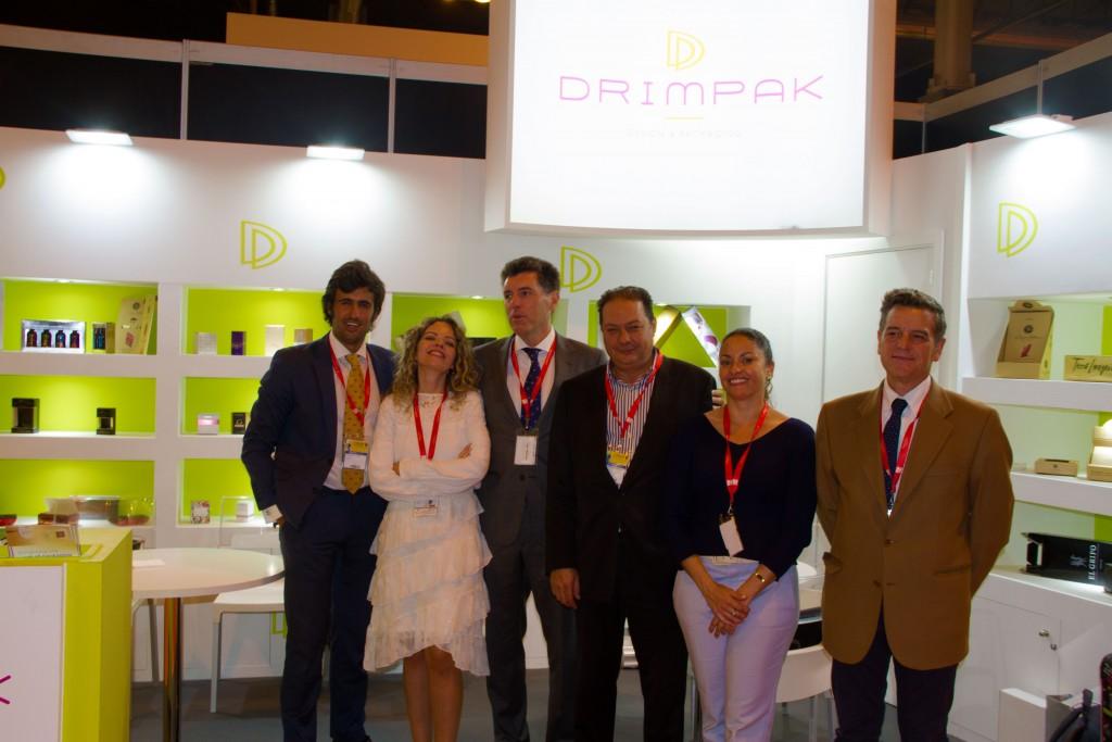 El equipo de Drimpak en su stand en el Salón de Gourmets.
